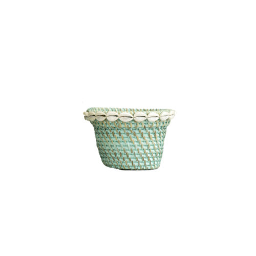 Rattan Pot With Shell S  MSP-051