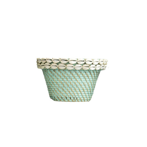 Rattan Pot With Shell M  MSP-052