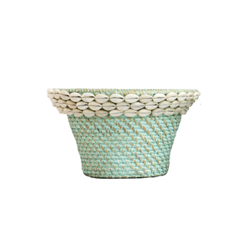 Rattan Pot With Shell L  MSP-053