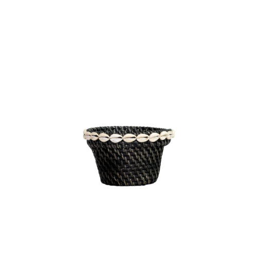 Rattan Pot With Shell S  MSP-054