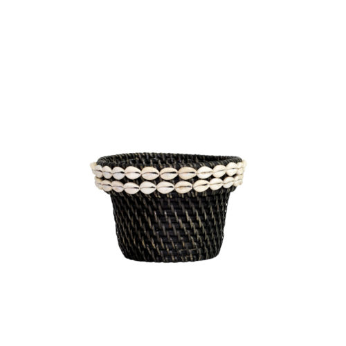 Rattan Pot With Shell M  MSP-055