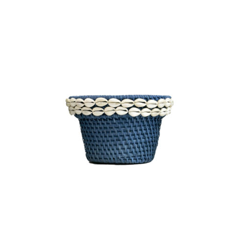 Rattan Pot With Shell M  MSP-058