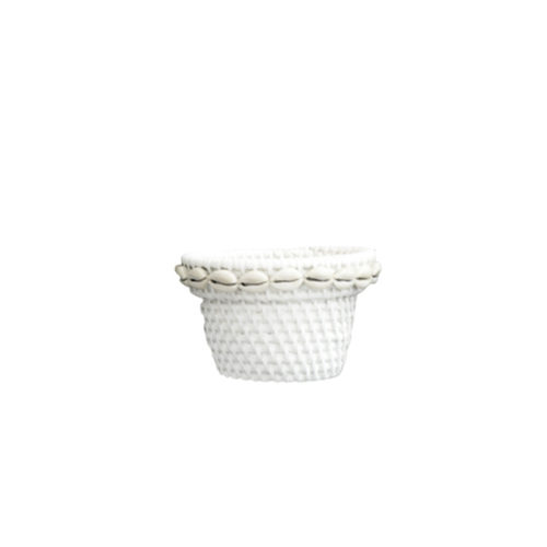 Rattan Pot With Shell S  MSP-060