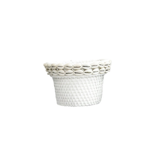 Rattan Pot With Shell M  MSP-061