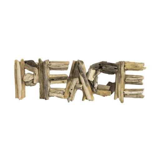 Peace Driftwood Sign  KDA-009