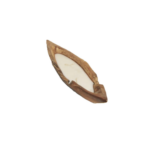 Candle Boat Teak Wood set 3  ANC-004