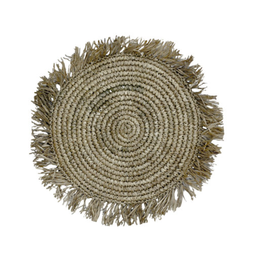 Round Rafia Placemat Whith Fringe  MSP-101