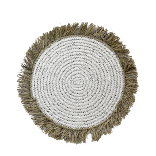 Round Rafia Placemat Whith Fringe  MSP-102