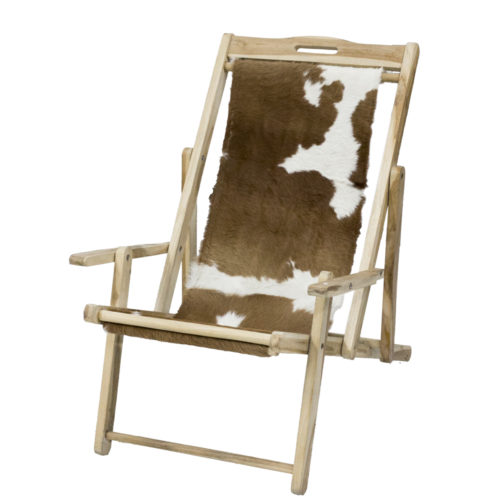 Folding Chair Goat Skin