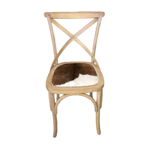 Cross Chair With Goat Leahter  GLV-037