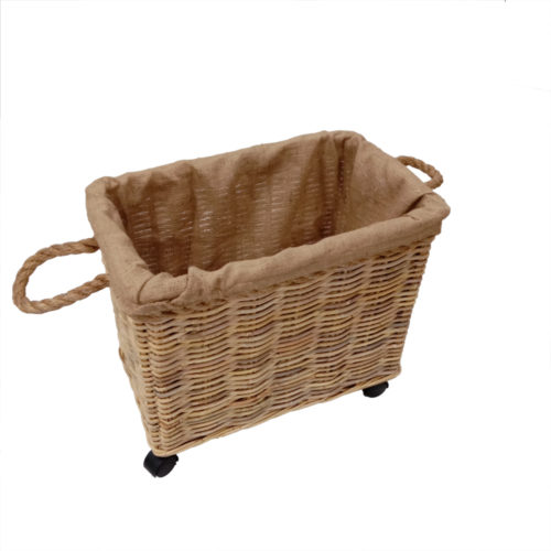 Basket Set Of 2 Kubu Soft W/ Rope And Jute Lining Fabric W/ Custer  JTB-022