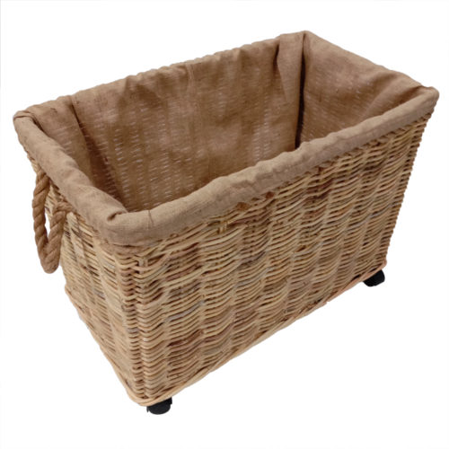 Basket Set Of 2 Kubu Soft W/ Rope And Jute Lining Fabric W/ Custer  JTB-023