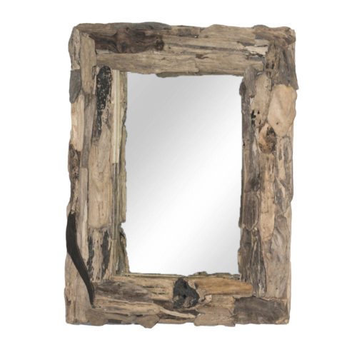 Square Driftwood Mirror L  KDA-015