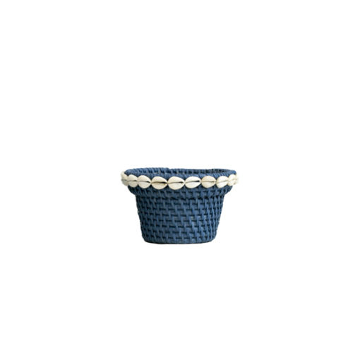 Rattan Pot With Shell S  MSP-057