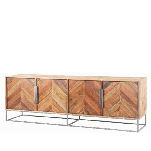 EXOTIC SIDEBOARD/ Fishbone/ 4-dr/ (1pc in BOHO, 1pc in GRIGIO)  RDD-021