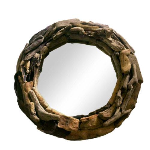 Round Driftwood Mirror L  KDA-017